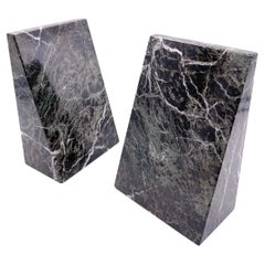 Pair of Postrmodern Solid Marble Bookends Memphis Era