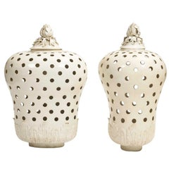 Pair of Potpourri Jars and Covers