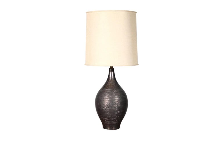 American Pair of Pottery Table Lamps by Design Technics For Sale