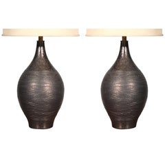 Pair of Pottery Table Lamps by Design Technics