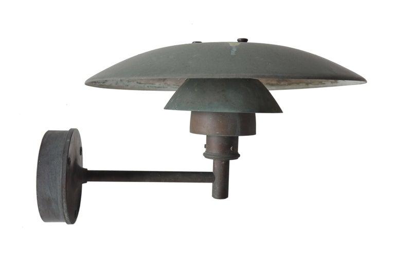 Mid-Century Modern Pair of Poul Henningsen Copper Sconces For Sale