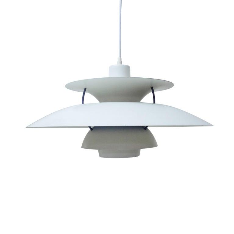 Mid-Century Modern Danish Design Classic Pair of Poul Henningsen PH5 Pendant Lamps, 1960s For Sale