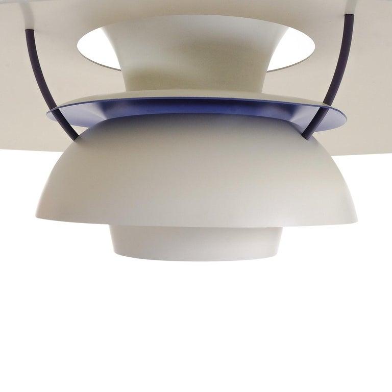 Mid-20th Century Danish Design Classic Pair of Poul Henningsen PH5 Pendant Lamps, 1960s For Sale