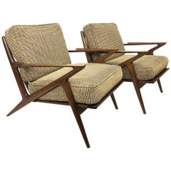 """Pair of Poul Jensen for Selig """"Z"""" Chairs"""