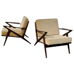 Pair of Poul Jensen 'Z' Lounge Chairs for Selig Denmark