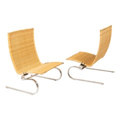 Pair of Poul Kjaerholm for Fritz Hansen PK20 Lounge Chair