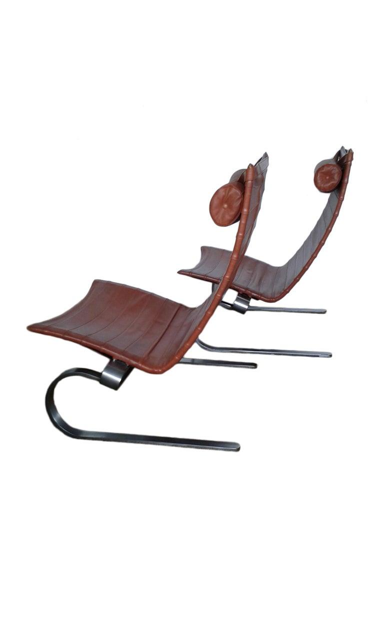 Scandinavian Modern Pair of Poul Kjærholm PK 20 Lounge Chair for E.Kold Christensen, 1960s For Sale