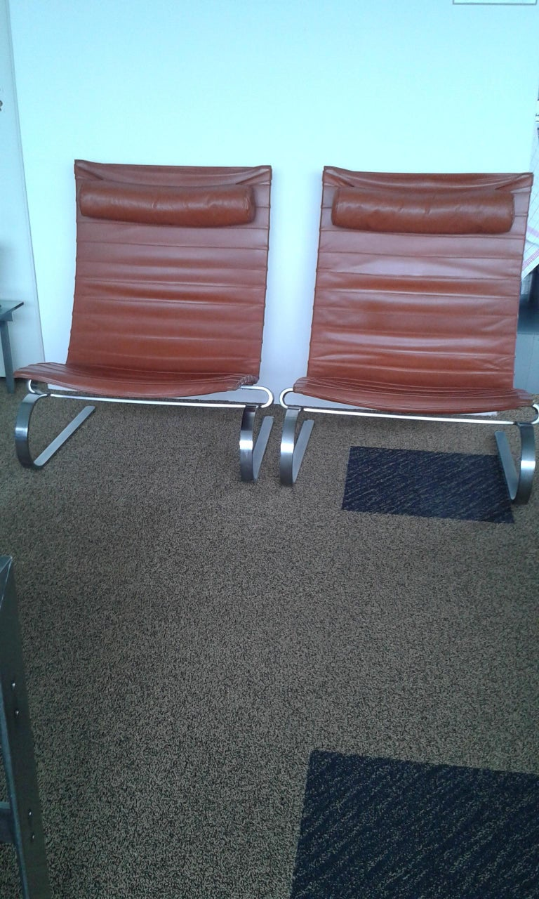 Danish Pair of Poul Kjærholm PK 20 Lounge Chair for E.Kold Christensen, 1960s For Sale
