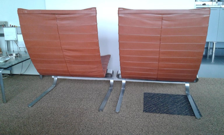 Pair of Poul Kjærholm PK 20 Lounge Chair for E.Kold Christensen, 1960s In Good Condition For Sale In Amsterdam, NL
