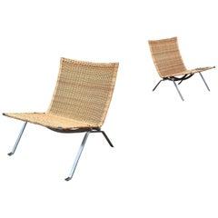 Pair of Poul Kjaerholm PK 22 Lounge Chairs in Wicker