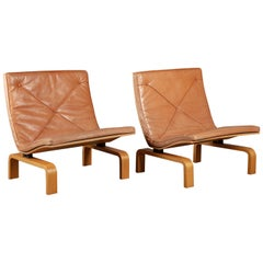 Pair of Poul Kjaerholm PK27 Easy Chairs