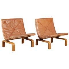 Pair of Poul Kjaerholm PK27 Easy Chairs