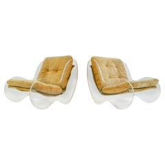 Poul Norreklit Lucite Lounge Chairs