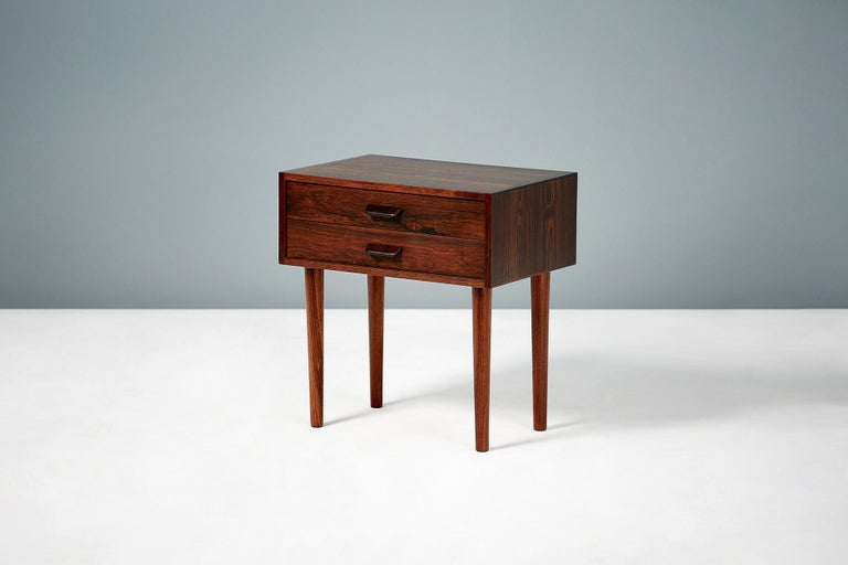 Scandinavian Modern Pair of Poul Volther 1960s Rosewood Bedside Cabinets For Sale