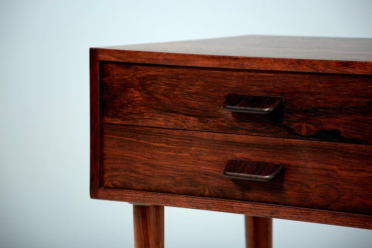 Danish Pair of Poul Volther 1960s Rosewood Bedside Cabinets For Sale