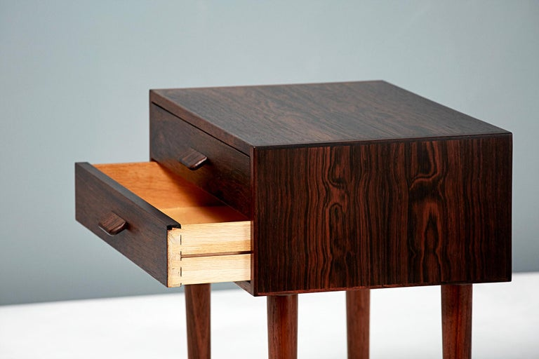 Pair of Poul Volther 1960s Rosewood Bedside Cabinets In Excellent Condition For Sale In London, GB