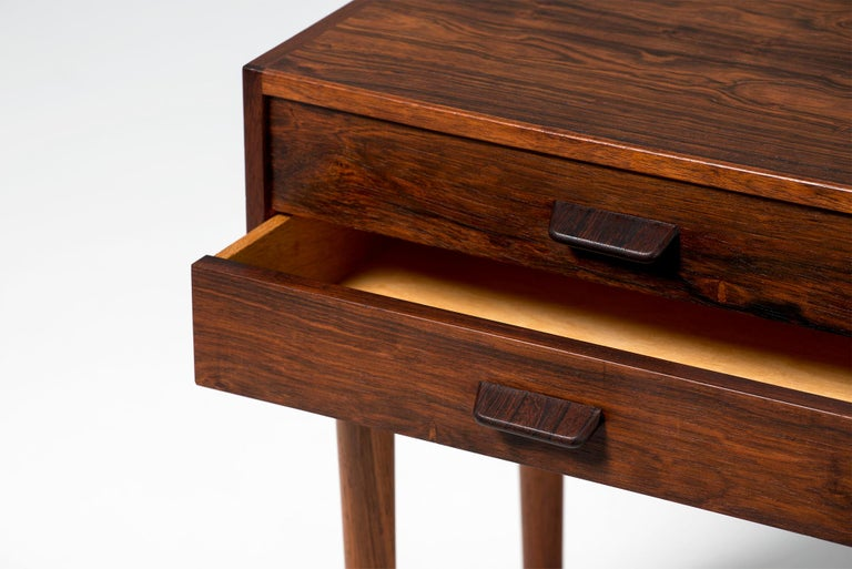 Mid-20th Century Pair of Poul Volther 1960s Rosewood Bedside Cabinets For Sale