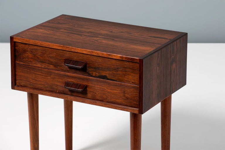 Pair of Poul Volther 1960s Rosewood Bedside Cabinets For Sale 1