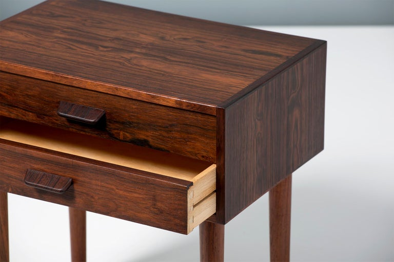 Pair of Poul Volther 1960s Rosewood Bedside Cabinets For Sale 2