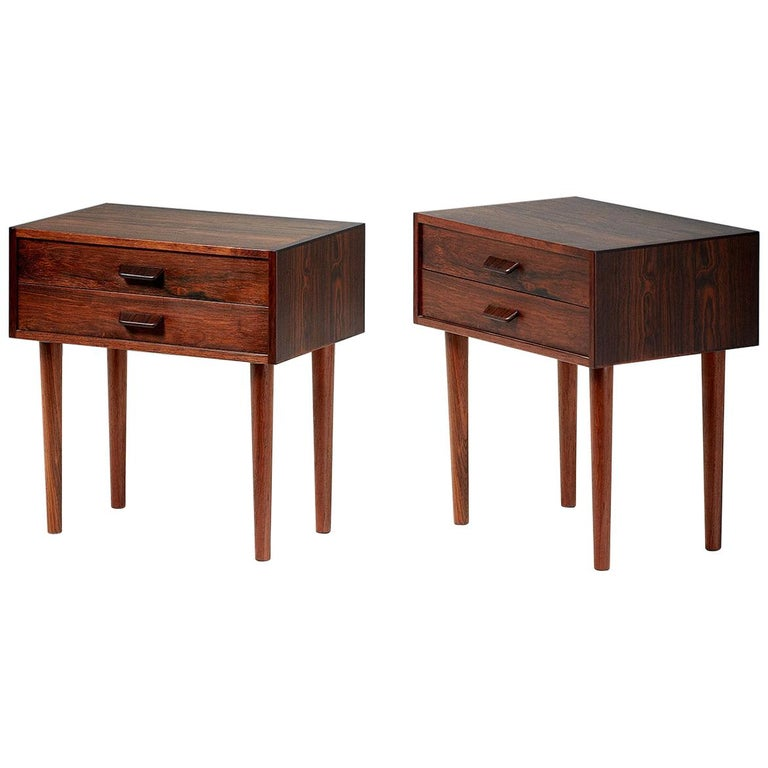 Pair of Poul Volther 1960s Rosewood Bedside Cabinets For Sale