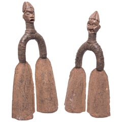 Pair of Pre-Colonial Cameroonian Double Bell Currency