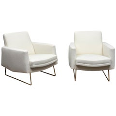 """Pair of """"Prelude"""" Lounge Chairs by Louis Paolozzi"""
