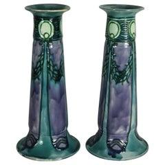 Pair of Purple Minton Secessionist Vases