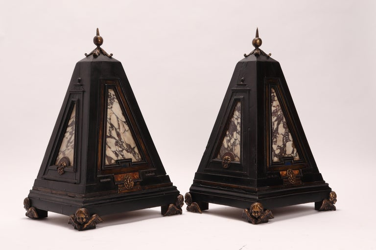 Early 19th Century Pair of Pyramids of Grand Tour, Italy, 1830 For Sale