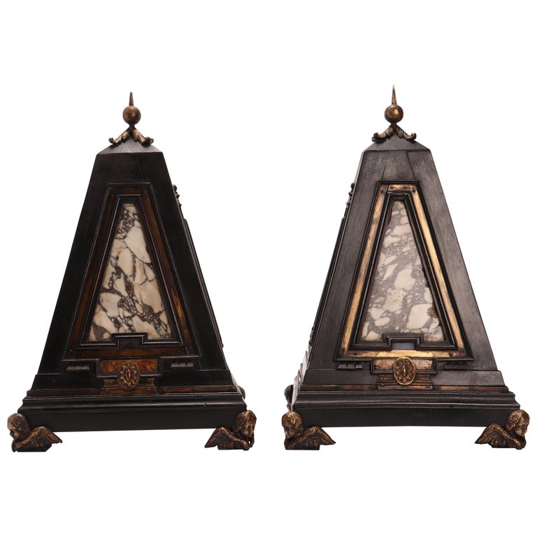 Pair of Pyramids of Grand Tour, Italy, 1830 For Sale