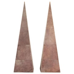 Pair of Pyramids Sheathed Galuchat, 20th Century