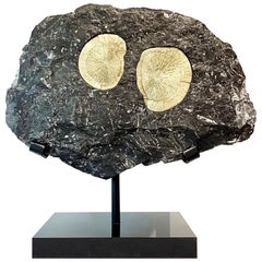 Pair of Pyrite Suns in Matrix