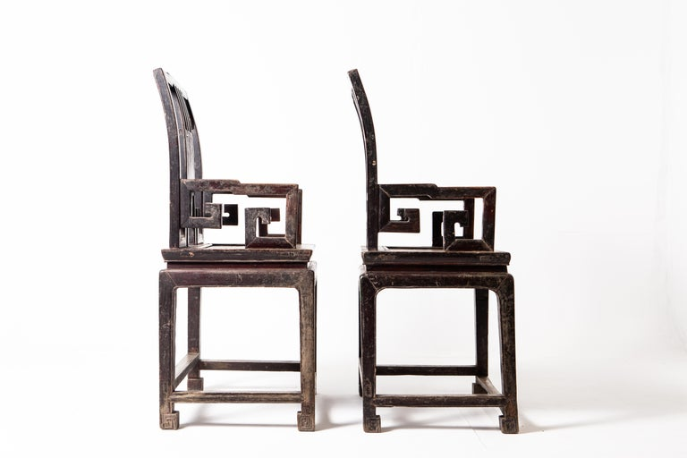 Pair of Qing Dynasty Armchairs For Sale 4