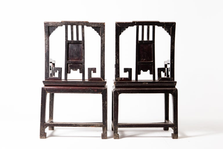 Pair of Qing Dynasty Armchairs For Sale 5