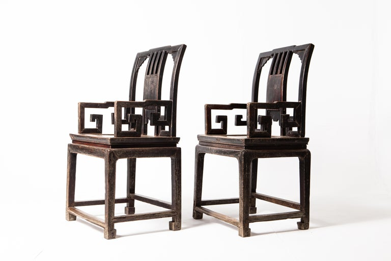 Pair of Qing Dynasty Armchairs For Sale 6