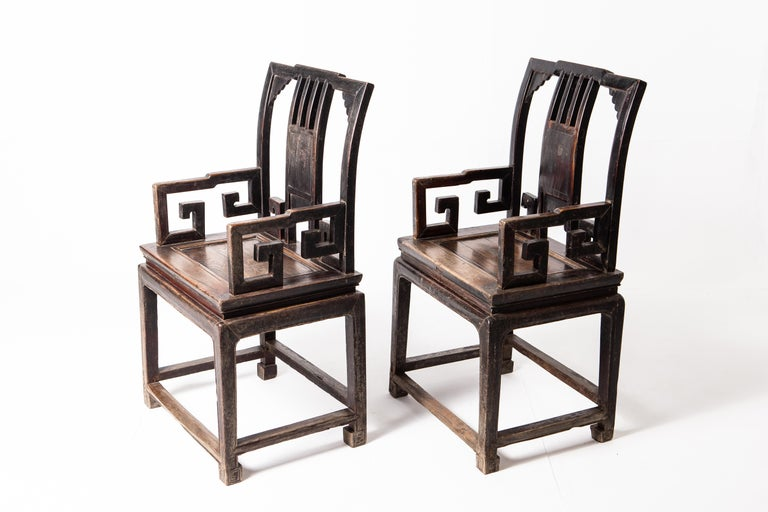 Pair of Qing Dynasty Armchairs For Sale 7