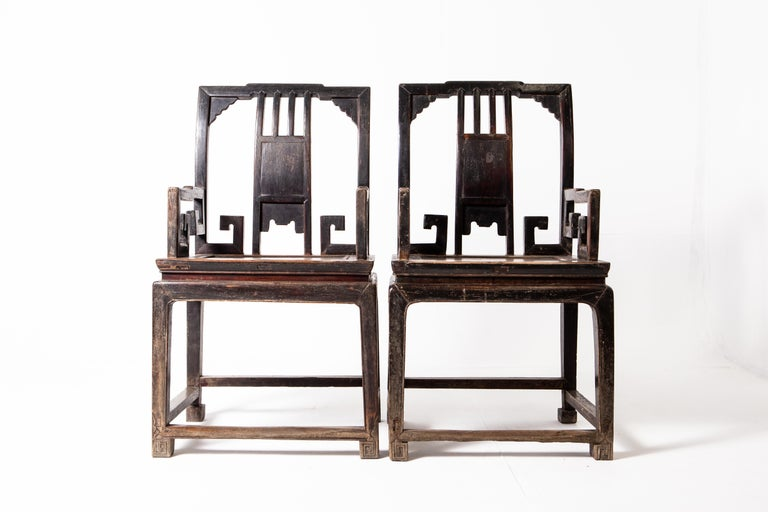 Pair of Qing Dynasty Armchairs For Sale 9