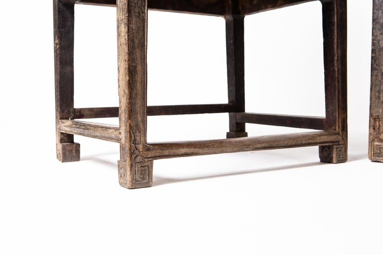 Elm Pair of Qing Dynasty Armchairs For Sale