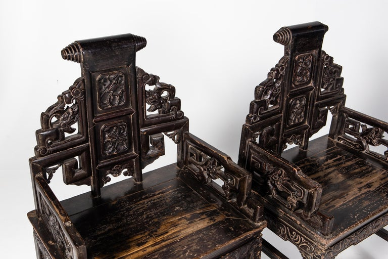 Pair of Qing Dynasty Armchairs For Sale 2