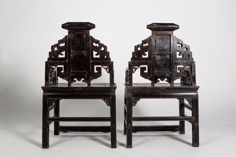 Pair of Qing Dynasty Armchairs For Sale 3