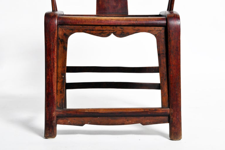 Pair of Qing Dynasty Horseshoe-Back Chairs For Sale 9