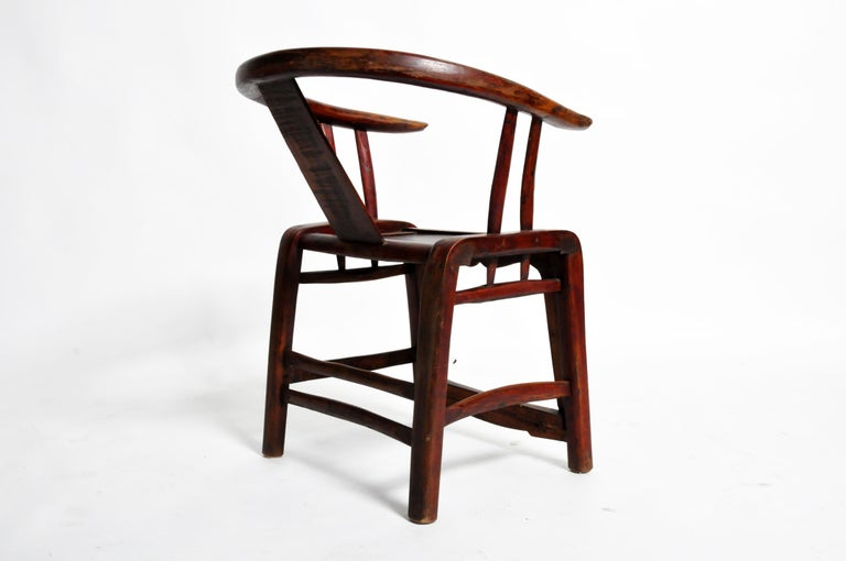 Pair of Qing Dynasty Horseshoe-Back Chairs For Sale 12
