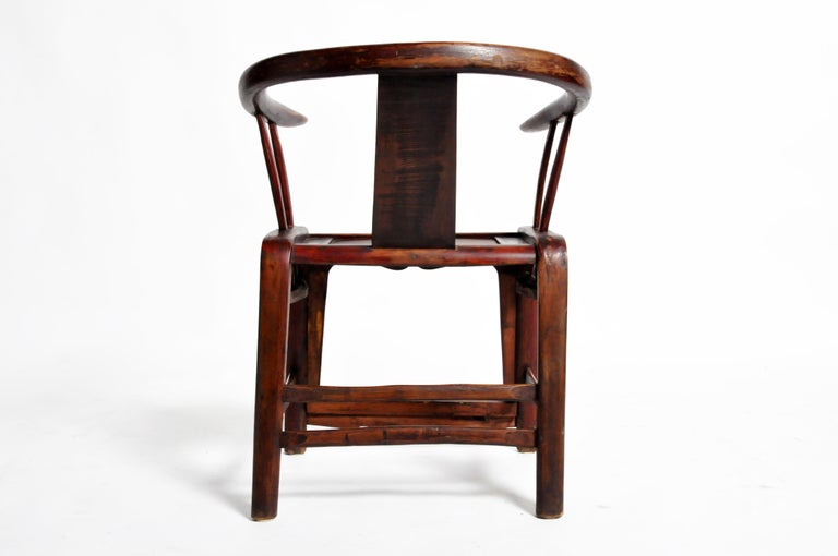 Pair of Qing Dynasty Horseshoe-Back Chairs For Sale 14