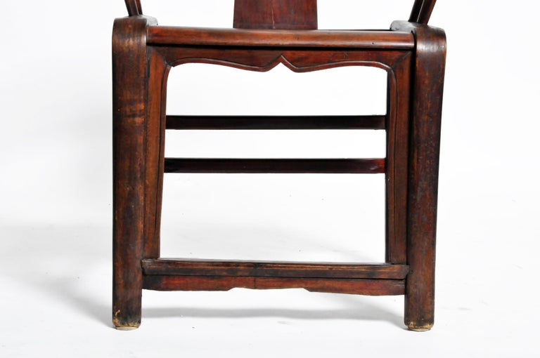 Pair of Qing Dynasty Horseshoe-Back Chairs For Sale 2