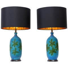 Pair of Quartite Creative Corp. Ceramic Table Lamps, circa 1960