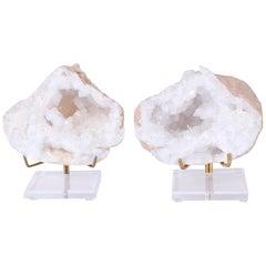 Pair of Quartz Geode Specimens