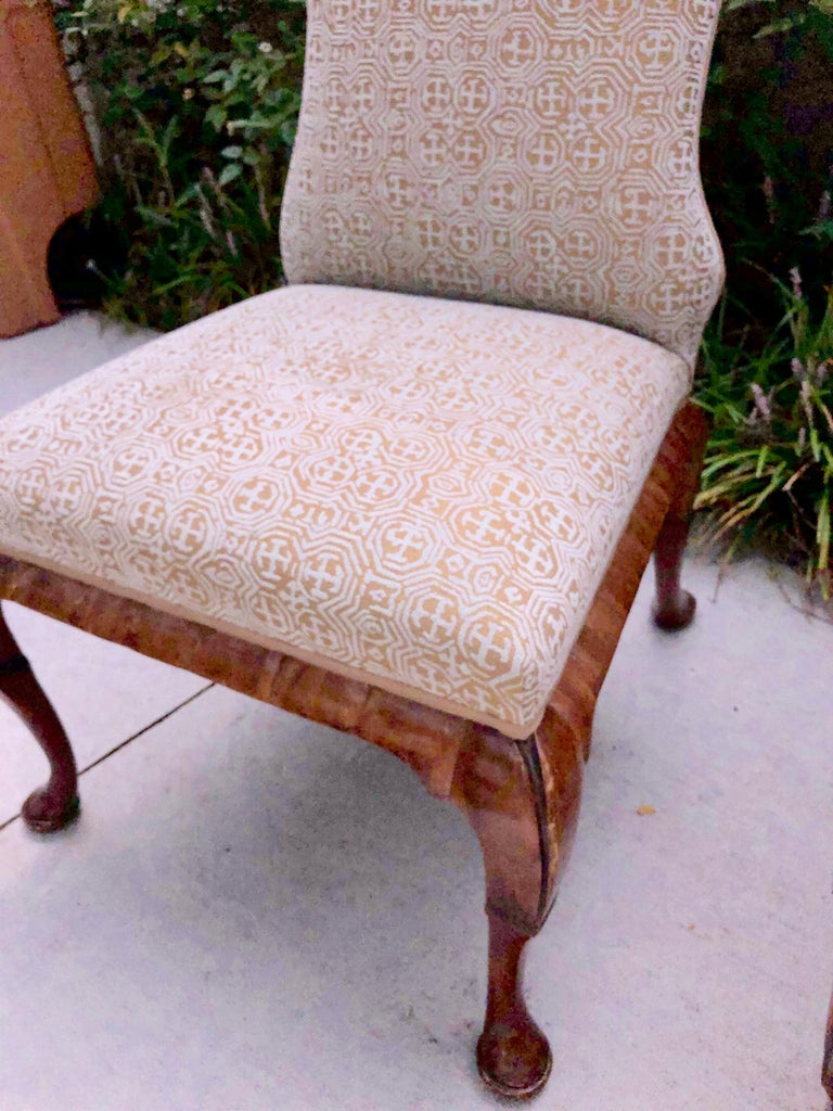 Pair of Queen Anne Dennis and Leen chairs - a lovely pair, perfect for the dining room or den as extra seating.
