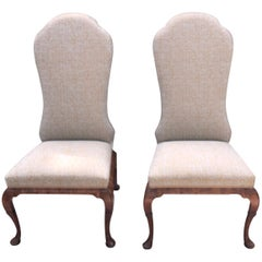 Pair of Queen Anne Dennis and Leen Chairs