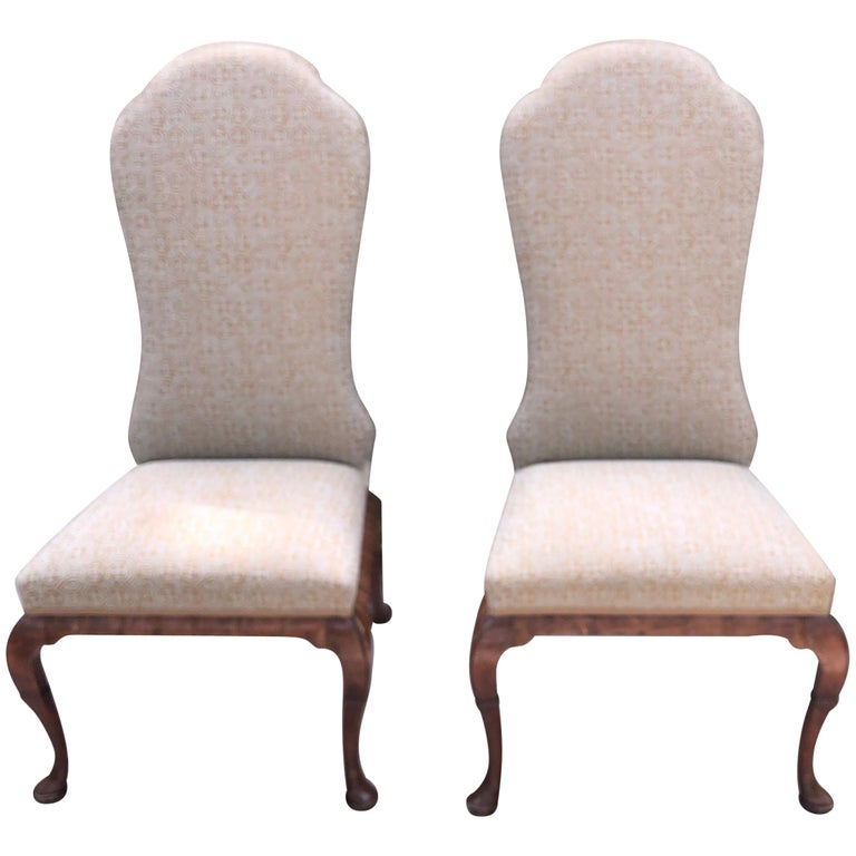 Pair of Queen Anne Dennis and Leen Chairs For Sale