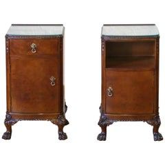 Pair of Queen Anne Style Bedside Cabinets