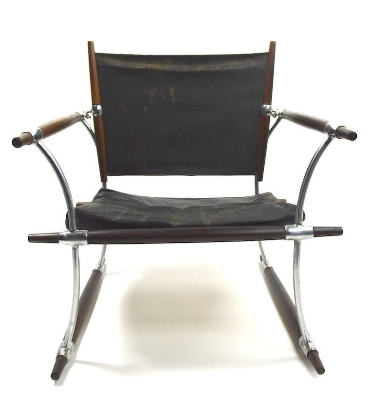 Pair of Quistgaard for Dansk Safari Lounge Chairs For Sale 5